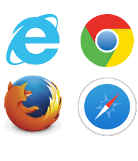 Internet Explorer、google chrome、Firefox、Safariで閲覧可能。
